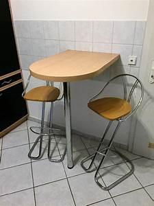 Stühle Für Küchentheke : k chentheke bartresen wand bistro stehtisch mit 2 st hlen in gondelsheim speisezimmer ~ Indierocktalk.com Haus und Dekorationen