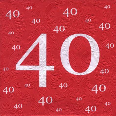 servietten 40 geburtstag mit pr 228 gung 20 st 252 ck 3 lagig 33x33cm 1 2 3 geburtstag