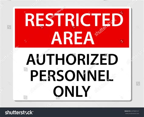Authorized Personnel Only Sign Vector Illustration Stock
