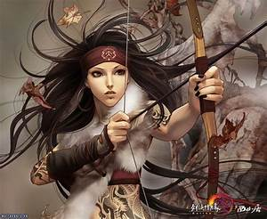 anime tattoos | Anime Girl Arrow Bow Warrior Beauty Brave ...