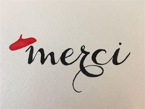 merci   calligraphy card  van gogh royal