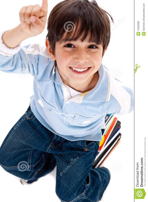 boy pointing  stock photography image