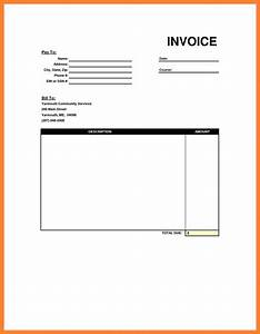 5 blank bill format in excel simple bill With invoice template download doc