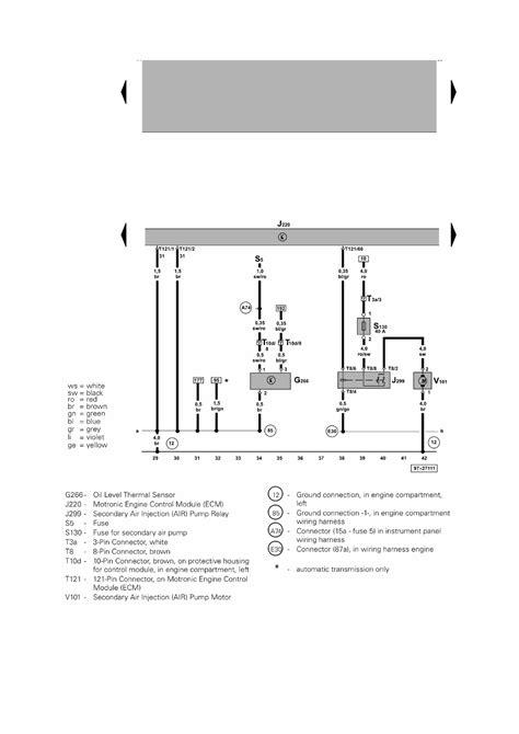 repair guides passat 18l engine motronic multiport fuel
