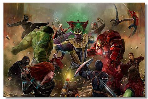 custom canvas wall art marvel universe superheroes