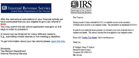 irs letter scams tax season scams to out for