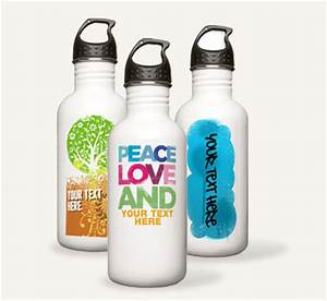 custom stainless steel water bottles cafepress With create custom water bottles