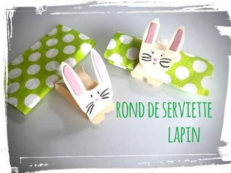 paques tuto rond de serviette lapin