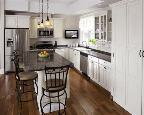 easy tips  remodeling small  shaped kitchen home
