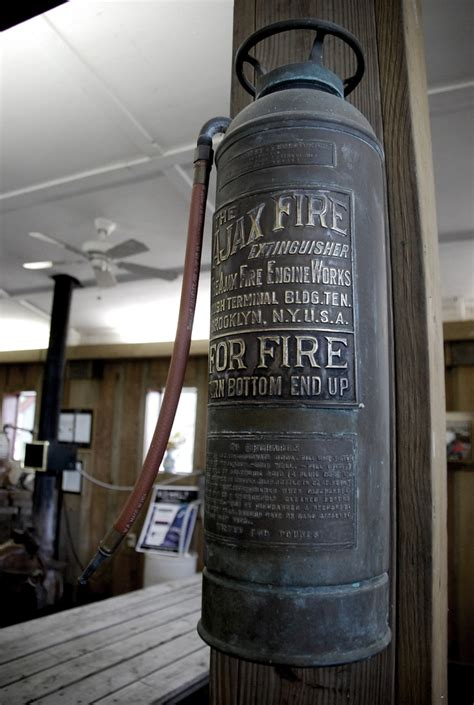 antique fire extinguisher cool idea  mount  wall