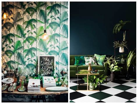 chambre boheme tendance jungle nature luxuriante et camaïeu de verts