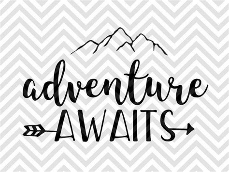 All contents are released under creative commons cc0. Adventure Awaits Arrow SVG and DXF EPS Cut File • Cricut ...