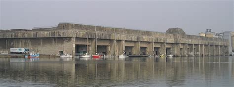 German U Boat Pens Brest by Nazaire Submarine Base
