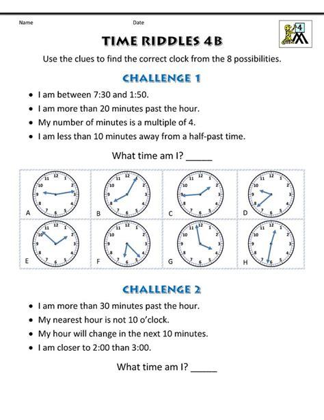 ks maths worksheets printable  images time