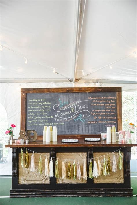 served  creative wedding drink stations