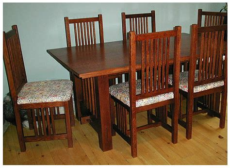 arts crafts mission style dining room