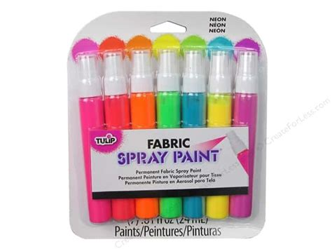 Tulip Fabric Spray Paint 7 Pc. Mini Neon -- Createforless Latex Exterior Paint Interior Wall Painting Colors B And Q Mediterranean Asian Paints Texture Samples Walls Ideas Job For Dummies