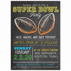 Super Bowl Football Sketch Invitations