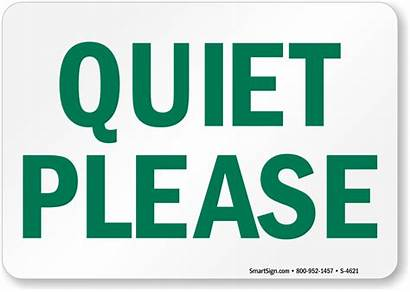 Quiet Please Sign Silence Signs Door Library