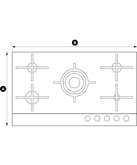 Cg905dnggb1  90cm Gas On Glass Hob, Fisher & Paykel