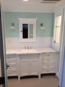 craftsman bathroom  white subway tile vintage