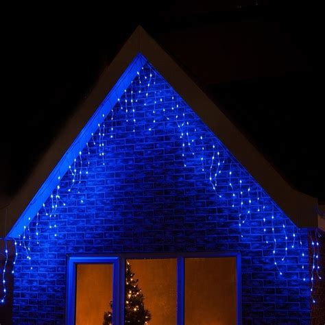 blue outdoor christmas lights 360 led blue christmas icicle snowing xmas lights party