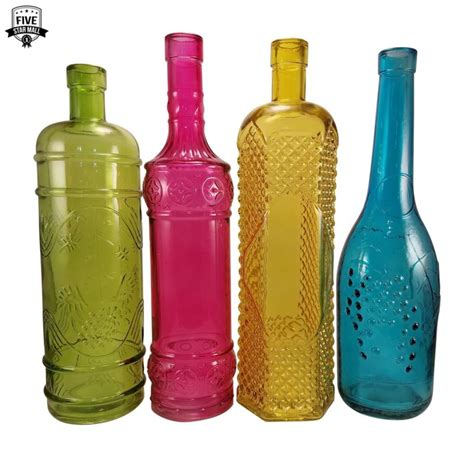 colored wine bottles colored medicine bottle shop collectibles daily