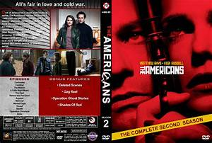 The Americans - Season 2 dvd cover & labels (2014) R1 Custom