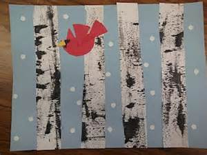 what a wonderful winter themed craft teaching to winter trees birds
