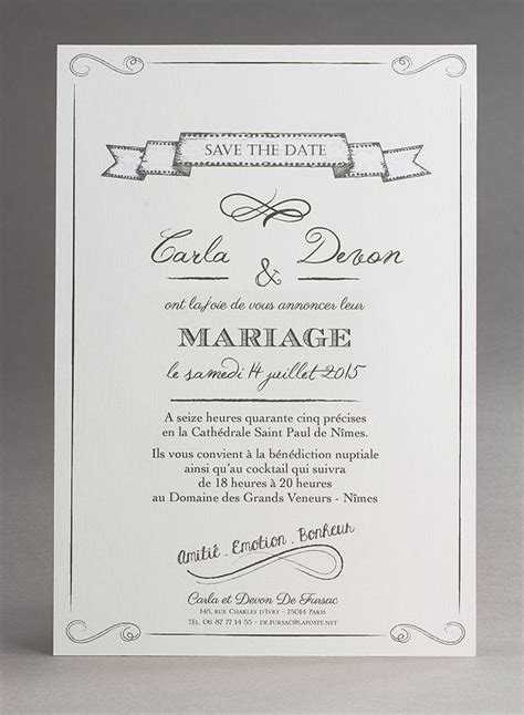 exemple de faire part mariage faire part mariage noir et blanc 20 faire part de