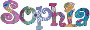 songbird custom painted kids39 wall letters With childrens wall letters