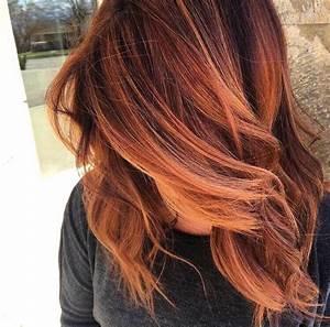 Balayage Braun Rot : 20 best balayage ideas for red and copper hair styleoholic ~ Frokenaadalensverden.com Haus und Dekorationen