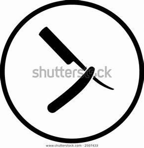 Barber Knife Symbol Stock Vector  Royalty Free  2507433