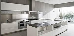 53 variantes pour les cuisines blanches With sol gris quelle couleur pour les murs 3 la cuisine laquee une survivance ou un hit moderne