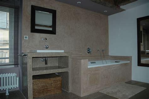 tadelakt cuisine davaus tadelakt salle de bain moderne avec des