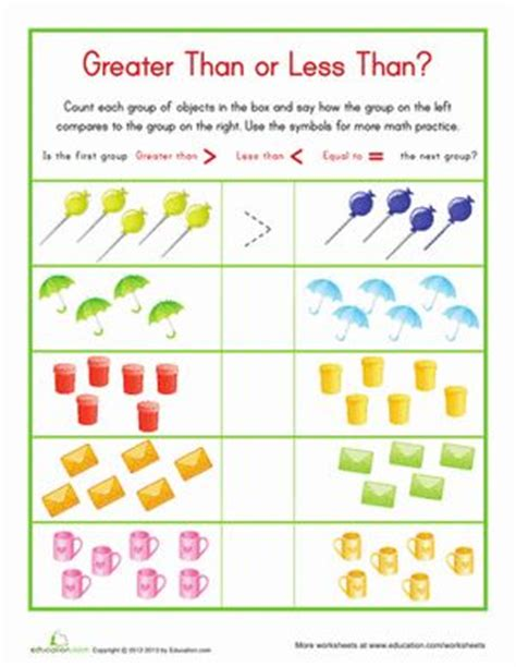 17 Best Images About Greater Than Less Than On Pinterest  Place Value Worksheets, Kindergarten