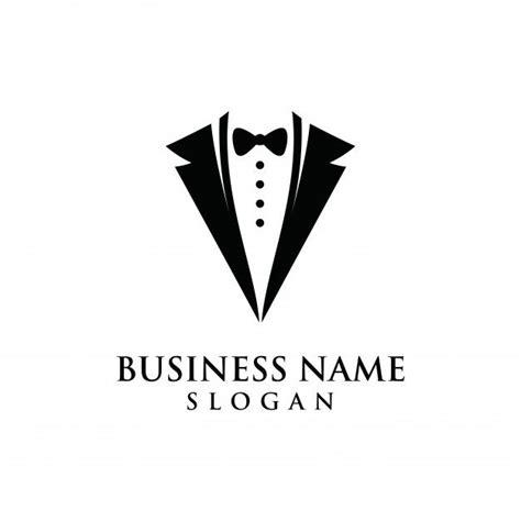 tuxedo logo graphic modern shape symbol tailor logo