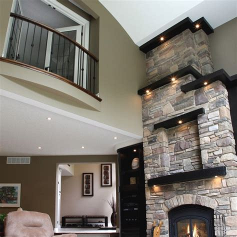 great high ceiling decor  alternate placement  wall shelving  put candles