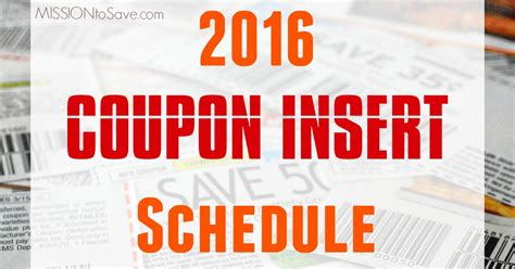 19933 Redplum Coupons Sunday Paper by 2016 Coupon Insert Schedule Find Savings In Your Sunday