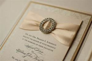 ribbon buckle formal wedding invitation in ivory and With formal wedding invitations with ribbon