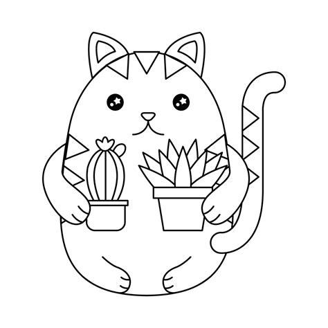 gatos kawaii im 225 genes de gatitos dibujos para colorear y en png