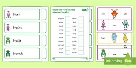 * New * Level 4 Twinkl Phonics Screening Check Group Games