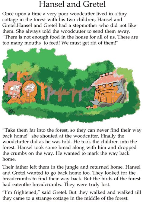 grade  reading lesson  fairy tales hansel  gretel
