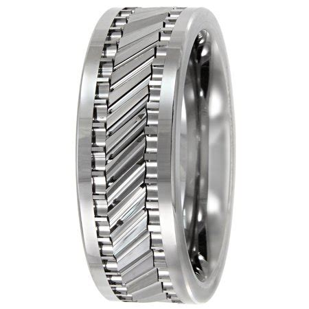 s tungsten 8mm gear pattern wedding band mens ring walmart