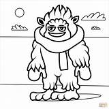 Coloring Yeti Popular Printable sketch template