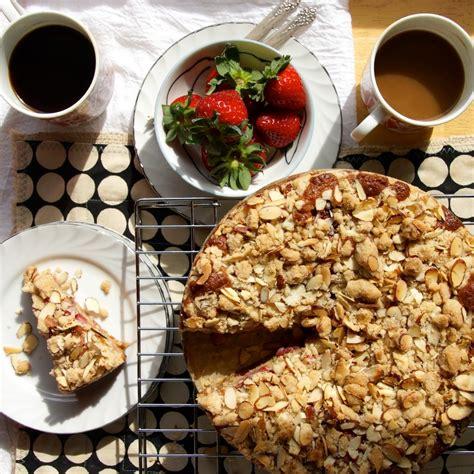 strawberry almond crumb coffee cake strawberryplum