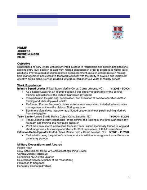infantry resume  excel templates
