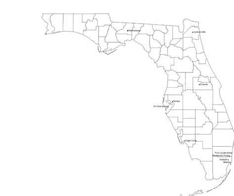 map  florida cities  city names