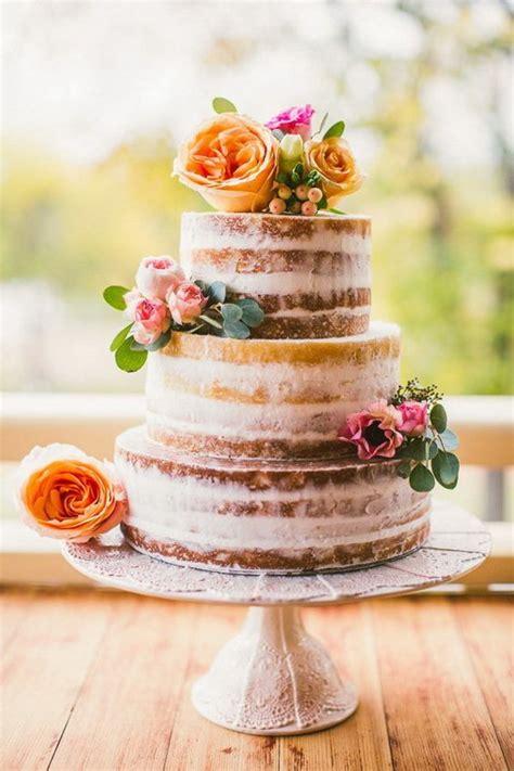 tendencias en pasteles de bodas vivan las tartas semi desnudas