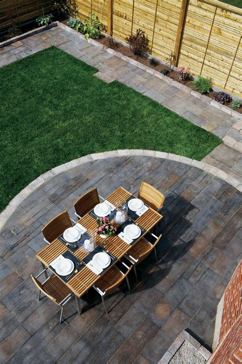 brooklin barnboard concrete patio slabs backyard ideas
